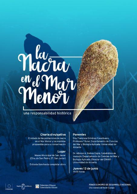 El museo municipal de San Javier acoge una charla sobre el estado de las poblaciones de Nacra del Mar Menor - 1, Foto 1