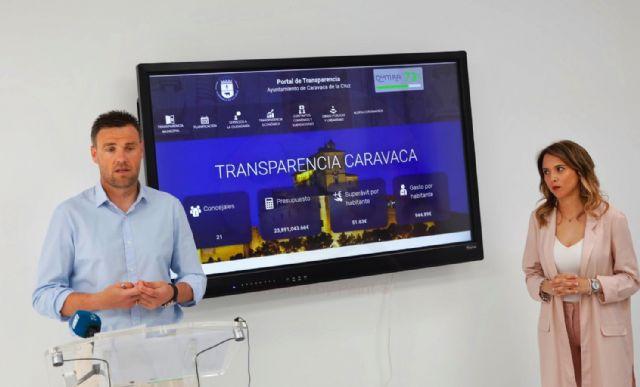El Ayuntamiento de Caravaca presenta el nuevo portal de transparencia y la línea verde de comunicación de incidencias para acercar la información pública y mejorar la comunicación con el ciudadano - 1, Foto 1