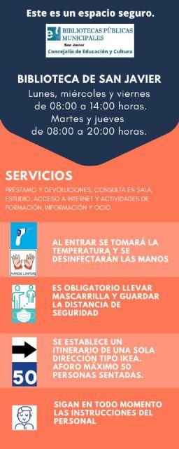 La biblioteca de San Javier amplía sus servicios a partir del próximo 15 de junio - 1, Foto 1