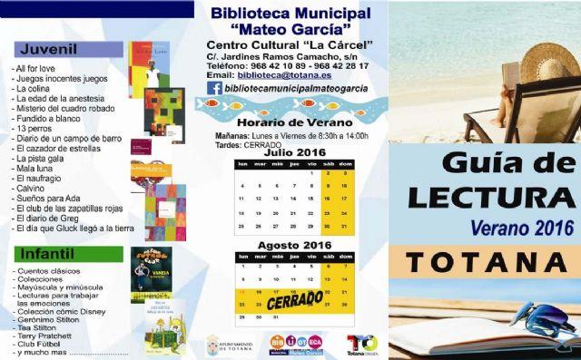 La Biblioteca Municipal Mateo García elabora una guía de lectura para el verano, Foto 1