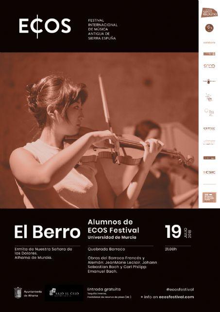 ECOS Festival llega hasta Alhama con un doble cartel, Foto 3