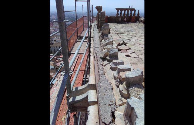 La balaustrada del siglo XVI que coronaba la torre de Santa María en Lorca podría haber desaparecido - 1, Foto 1