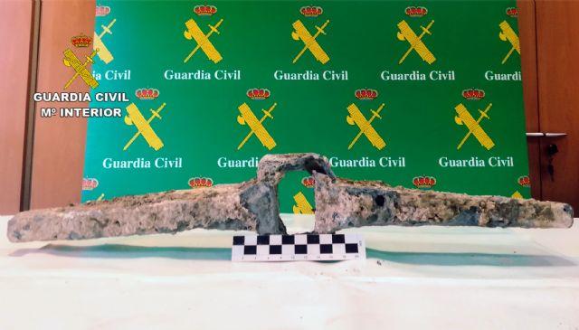 La Guardia Civil recupera en Murcia un cepo de ancla de la época romana - 1, Foto 1