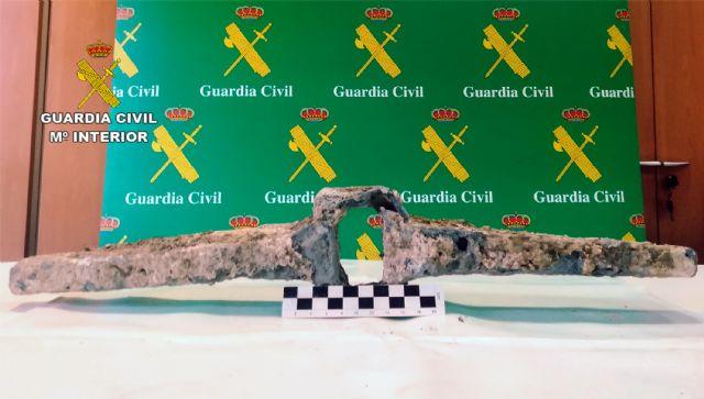 La Guardia Civil recupera en Murcia un cepo de ancla de la época romana - 2, Foto 2
