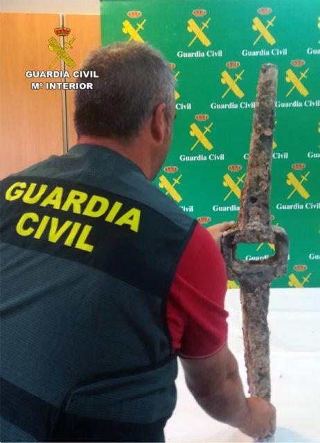 La Guardia Civil recupera en Murcia un cepo de ancla de la época romana - 5, Foto 5