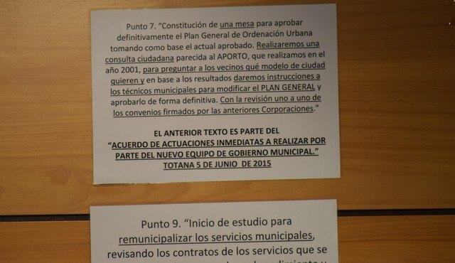 Cebag solicita al alcalde y al equipo de gobierno que coloquen en la web del ayuntamiento su programa de gobierno firmado el 5 de junio de 2015 y hagan un balance público de cumplimiento de un año y dos meses de gestión, Foto 1