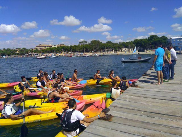 NNGG reivindica en el Día Internacional de la Juventud el Mar Menor como motor generador de empleo para los jóvenes, Foto 1