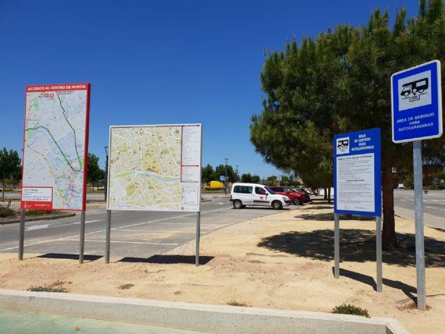 El aparcamiento de caravanas cuenta con nueva señalización turística - 1, Foto 1
