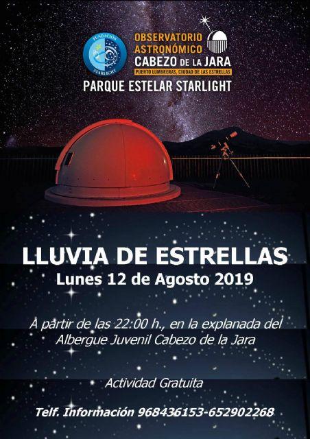 Lumbrerenses y visitantes disfrutarán esta noche de la 'Lluvia de Estrellas' en el Cabezo de la Jara - 1, Foto 1