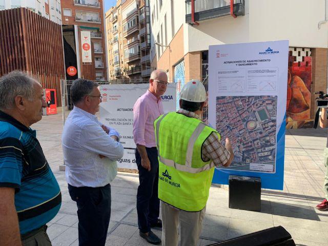 La plaza de Santa Eulalia contará con nueva red de saneamiento - 1, Foto 1