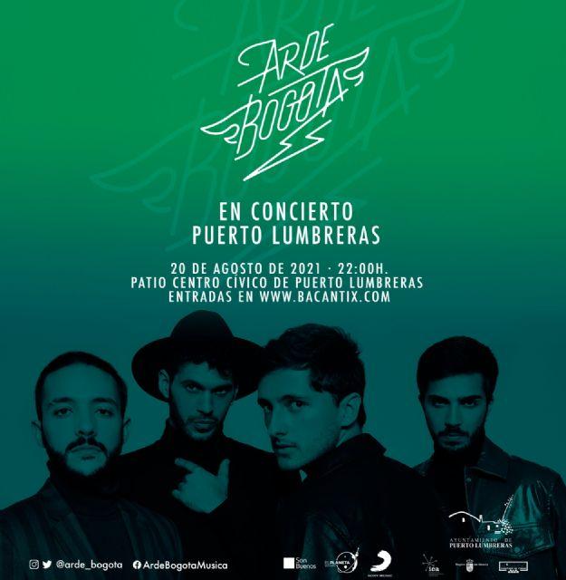 Arde Bogotá, uno de los grupos del momento en el panorama nacional, actuará gratis en Puerto Lumbreras el viernes 20 de agosto - 1, Foto 1