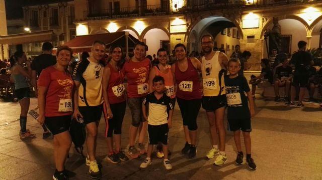 Members Totana Athletics Club present the I Lorca Running night