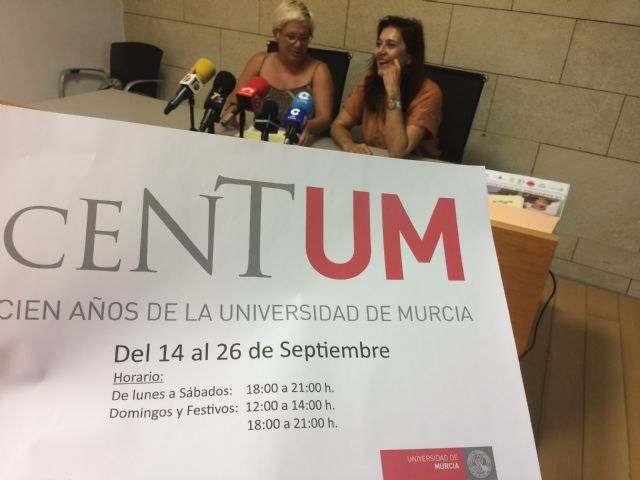 "The new permanent extension of the University of Murcia starts its activity in Totana with a talk and the exhibition ""Centum"" on the hundred years of this teaching institution - 1"
