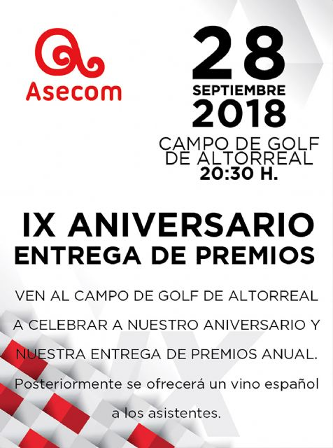 ASECOM se prepara para la novena edición de sus premios anuales, Foto 1