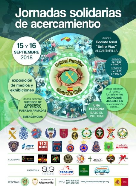 Alcantarilla acoge el 15 y 16 de septiembre la Jornadas Solidarias de Acercamiento, organizada por la Asociación Unidad Familiar Guardia Civil, a nivel nacional, Foto 1