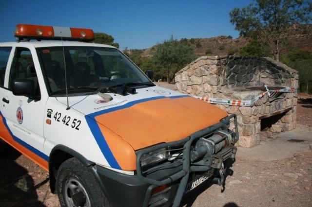 No se puede realizar ningún tipo de fuego en las barbacoas habilitadas en Sierra Espuña ni utilizar camping-gas para cocinar en el monte hasta octubre, Foto 2