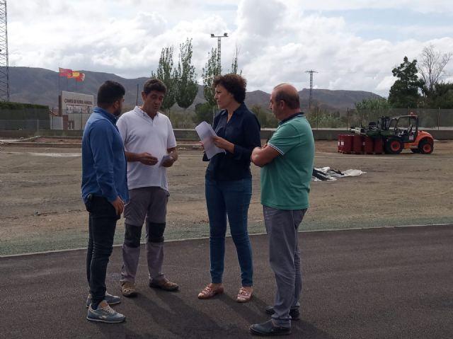 Se inicia la fase final de las obras de la pista de atletismo de Puerto Lumbreras - 2, Foto 2