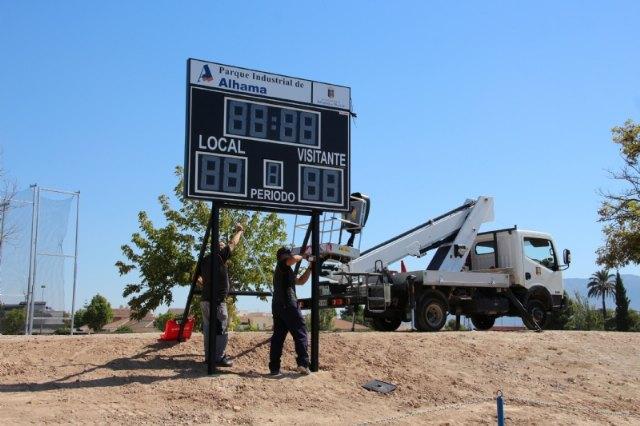 El campo de fútbol José Kubala estrena un nuevo marcador electrónico, Foto 1