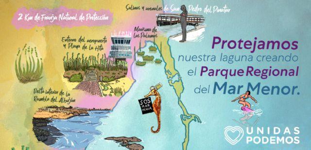 Unidas Podemos pone en marcha una página web en la que explica cómo se configuraría el Parque Regional del Mar Menor - 1, Foto 1