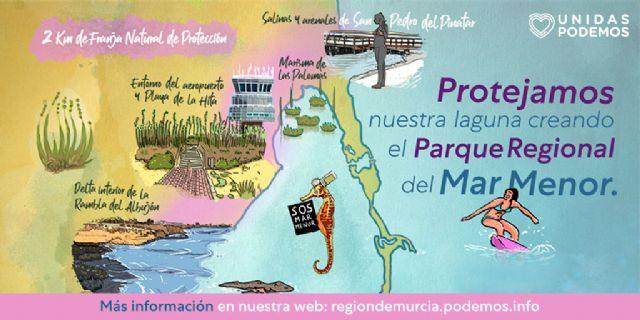 Unidas Podemos pone en marcha una página web en la que explica cómo se configuraría el Parque Regional del Mar Menor - 2, Foto 2