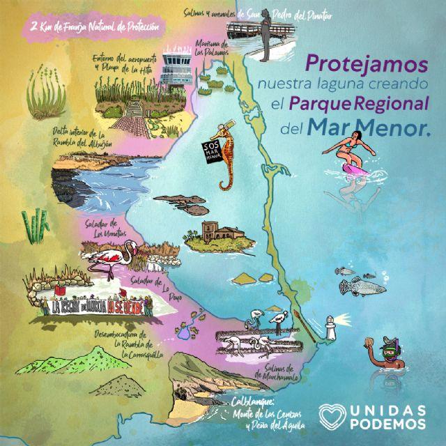 Unidas Podemos pone en marcha una página web en la que explica cómo se configuraría el Parque Regional del Mar Menor - 3, Foto 3
