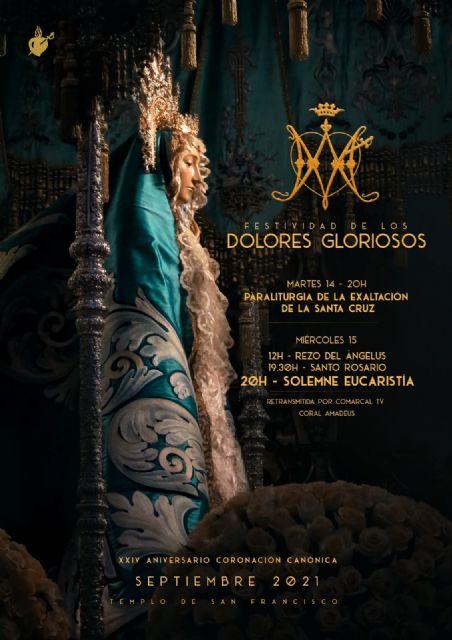 El Paso Azul conmemora la festividad de los Dolores Gloriosos y el XXIV Aniversario de la Coronación Canónica de la Santísima Virgen de los Dolores - 1, Foto 1