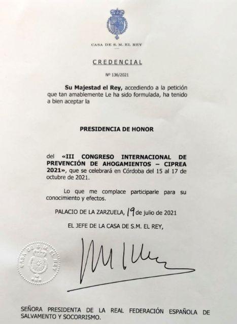 El Rey preside el Comité de Honor del III Congreso Internacional de Prevención de Ahogamientos (CIPREA) - 1, Foto 1