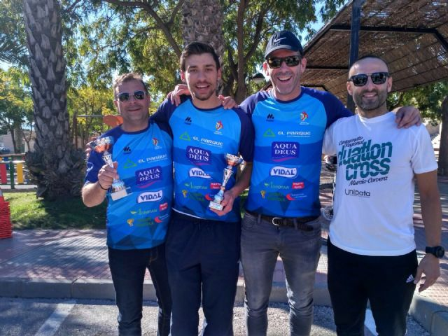 The Totana Triathlon Club participated in the duathlon Cross Ciudad de Murcia - Regional Championship - 2