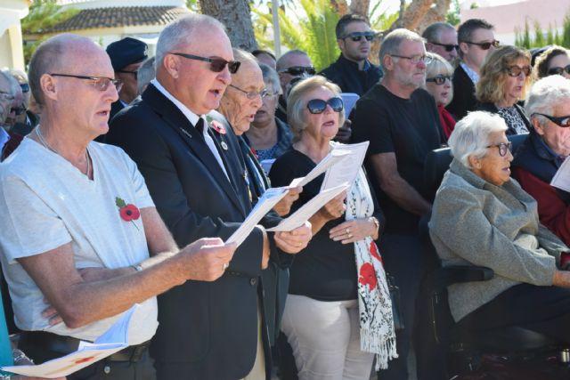 La comunidad británica de Mazarrón recuerda en el jardín de la memoria de Camposol a sus militares fallecidos - 3, Foto 3