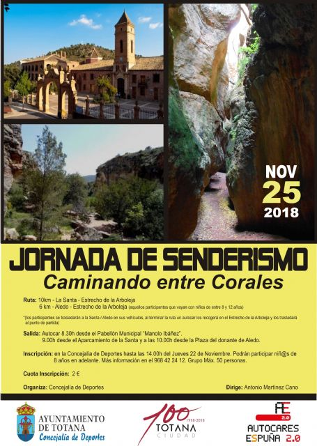 Organize a Hiking Route to the Arboleja Strait, next November 25