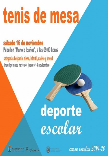 The Local Phase of School Sports Table Tennis will be held next Saturday, November 16