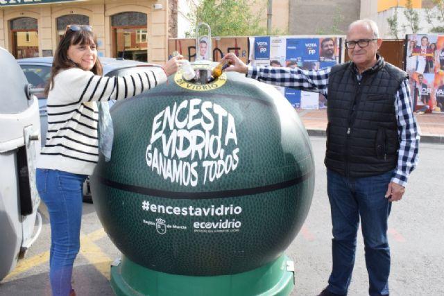 La campaña #encestavidrio arranca en Mazarrón con 5 puntos especiales de reciclaje - 1, Foto 1