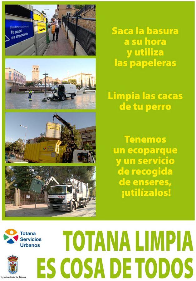 Campaña de concienciación ciudadana del Ayuntamiento de Totana