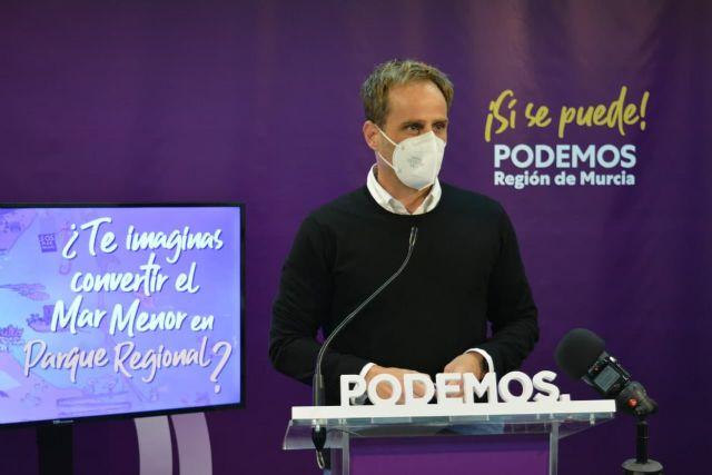 Unidas Podemos explica en un vídeo cuál sería la extensión del Parque Regional del Mar Menor y cómo ayudaría a protegerlo - 1, Foto 1