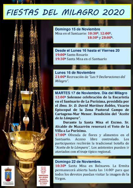 Los actos litúrgicos centran la celebración del Milagro de este año - 2, Foto 2