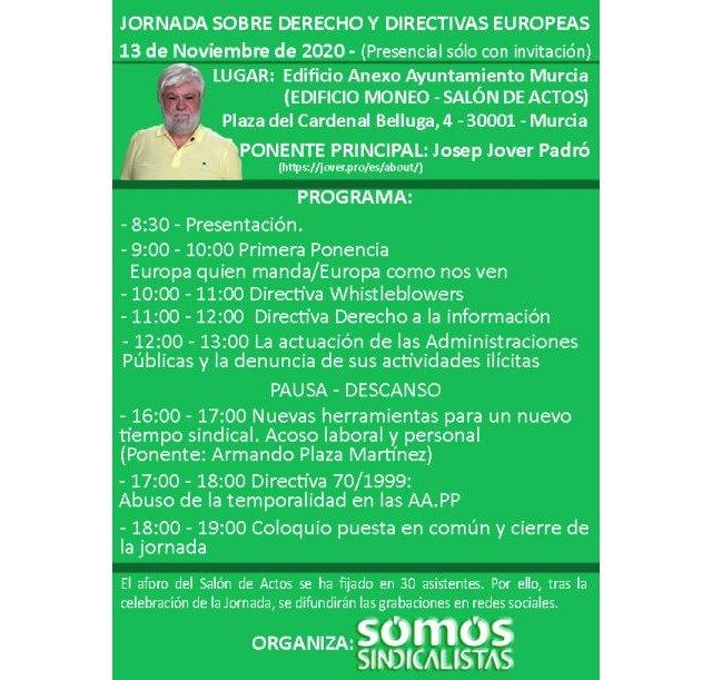 Jornada sobre derecho y directivas europeas Murcia - 1, Foto 1