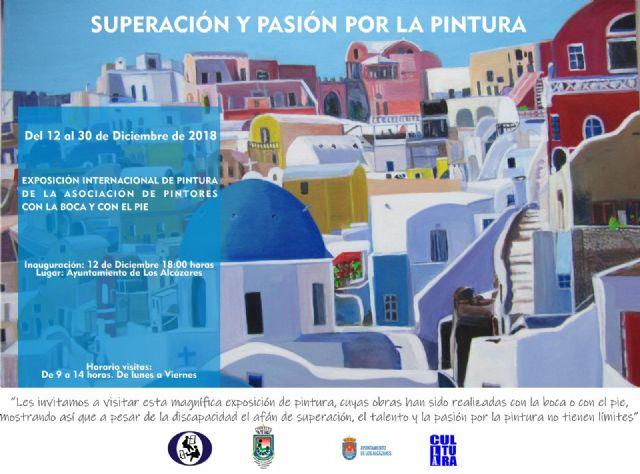 El Ayuntamiento de Los Alcázares acoge la exposición de la Asociación de Pintores con la Boca y con el Pie de todo el mundo - 1, Foto 1