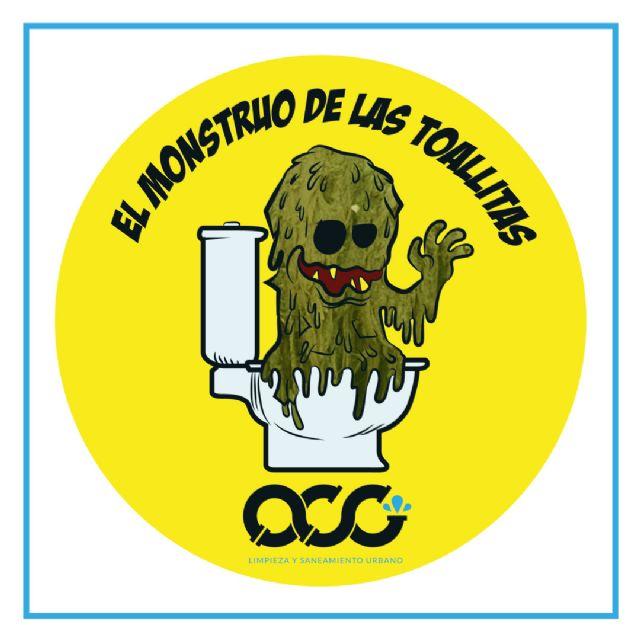 'El monstruo de las toallitas' concienciará a escolares murcianos de la necesidad de usarlas bien, Foto 1