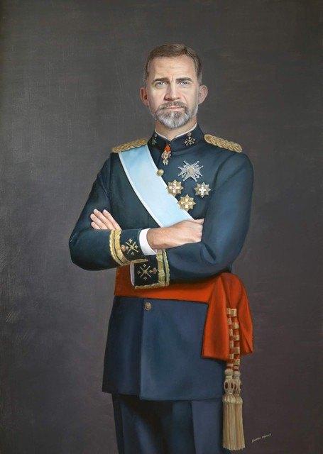 Llega a la Ciudad de Totana el retrato al óleo de S.M el Rey Felipe VI, Foto 1