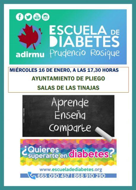 Este miércoles se realizará en Pliego una sesión de la Escuela de Diabetes Prudencio Rosique - 1, Foto 1