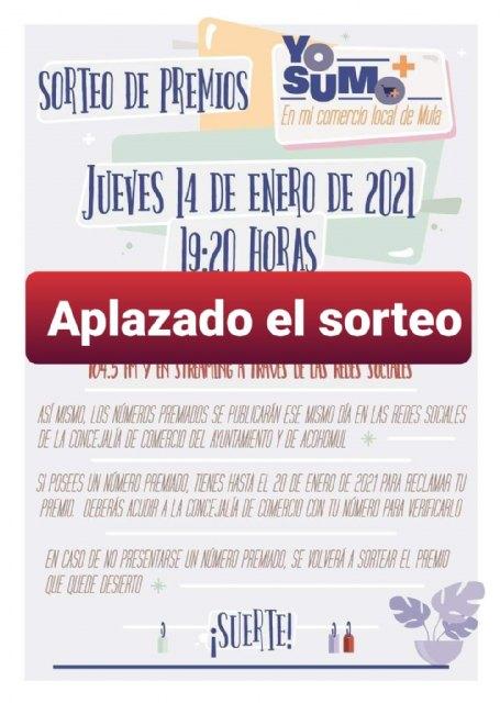 Aplazado el sorteo de la campaña de promoción del comercio «Yo Sumo» - 1, Foto 1