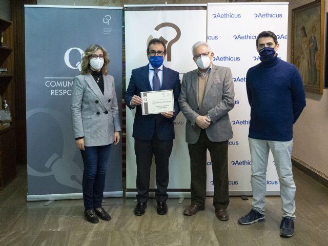 El Colegio de Periodistas de Murcia concede a Aethicus Abogados Inmobiliarios el Sello de Comunicación Responsable - 1, Foto 1