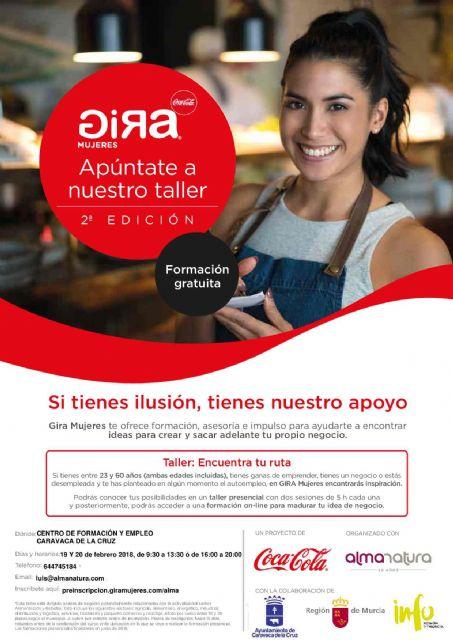 El programa 'Gira Mujeres' se desarrolla en Caravaca con talleres gratuitos para emprendedoras - 1, Foto 1
