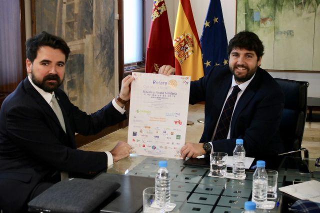 Fernando López Miras recibe a los representantes del Club Rotary Murcia Norte, Foto 1