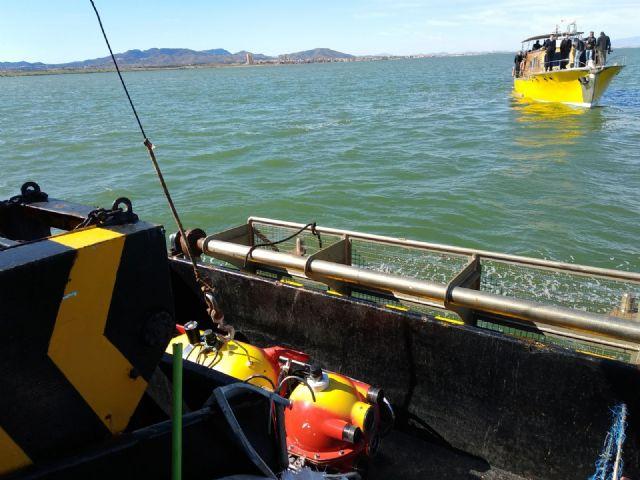 Oficiales de la OTAN comprueban el potencial de los sistemas de detección submarina de la UPCT en el Mar Menor - 1, Foto 1
