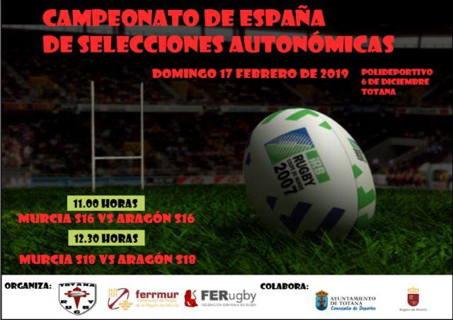 Totana acoge este domingo el Campeonato de España de Selecciones Auton�micas de rugby, con los combinados de Murcia y Arag�n sub-16 y sub-18, Foto 2