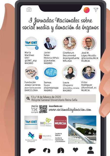 La UMU colabora en las I Jornadas Nacionales sobre Social Media y Donación de Órganos - 1, Foto 1
