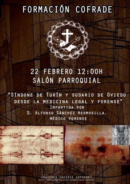 La Síndone de Turín y el sudario de Oviedo, en las charlas de la Cofradía de la Fe - 1, Foto 1