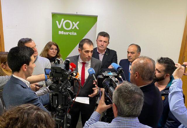 VOX rechaza el nombramiento de José Vélez como Delegado del Gobierno en la Región, Foto 1