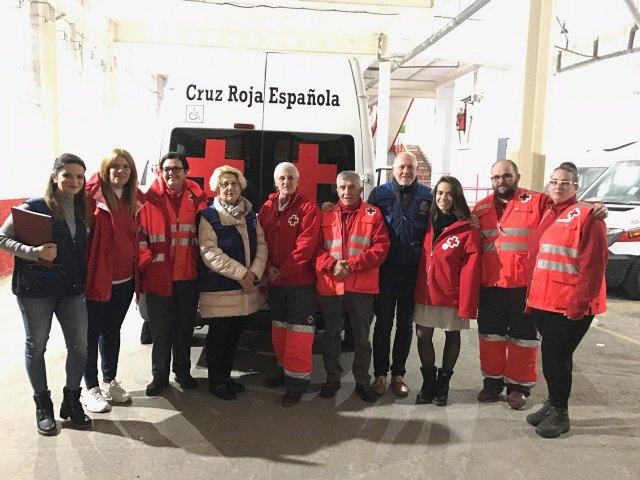 La concejala de Servicios Sociales visita a las personas sin hogar acompañada por la Unidad de Emergencia Social de Cruz Roja - 1, Foto 1